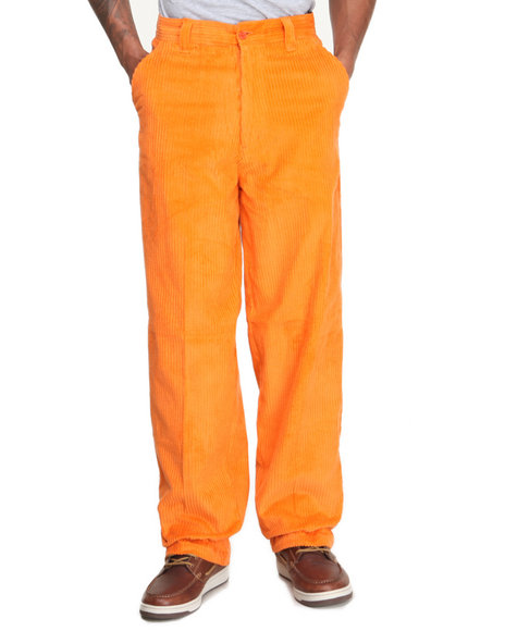Buyers Picks - Men Orange Moffat Pure - Cotton Corduroy Pants