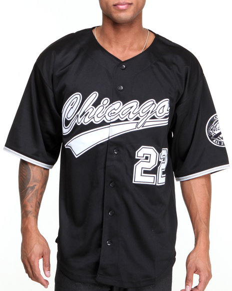 Buyers Picks - Men Black Chicago All - Star Baseball Jersey