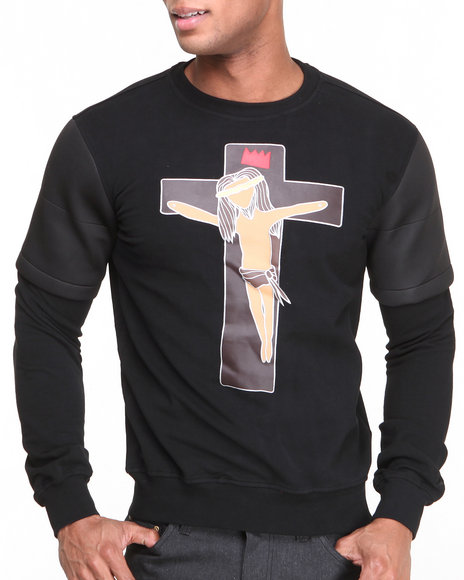 Bass By Ron Bass Black Jesus Piece Crewneck Sweatshirt