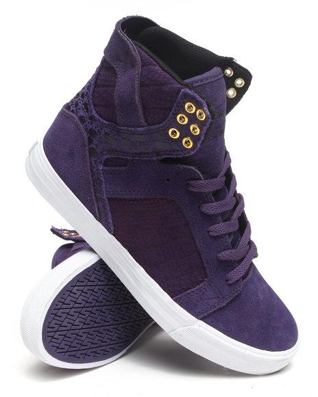 Supra Purple Skytop Purple Suede Sneakers