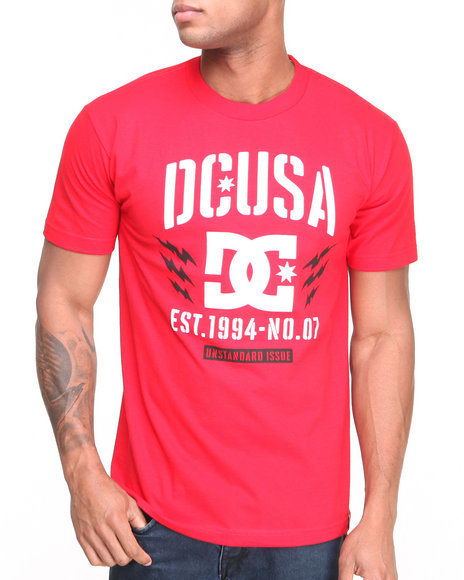 Dc Shoes - Men Red Bolts Tee - $16.99