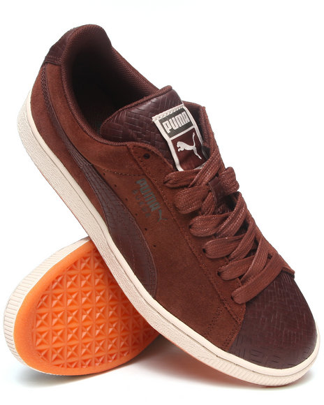 Puma - Men Brown Suede Classic Herringbone Sneakers