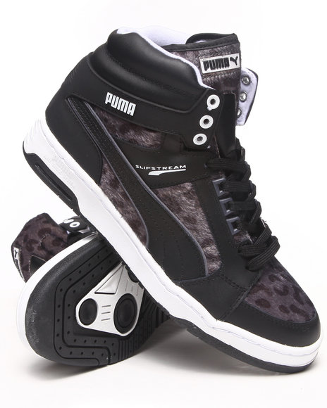 Puma - Men Charcoal,Animal Print,Black Puma Slipstream Animal Sneakers