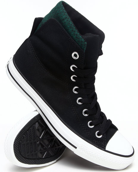 Converse - Men Black Chuck Taylor All Star Dual Collar Sneakers