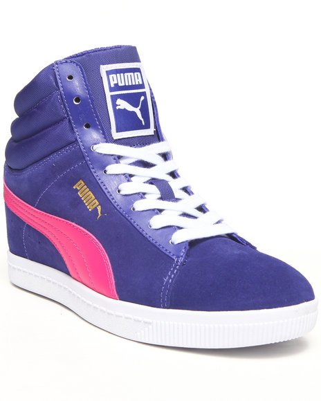 Puma Blue Puma Classic Wedge Sneakers
