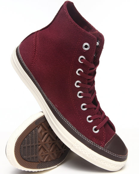 Converse - Men Maroon Clean Craft Sneakers