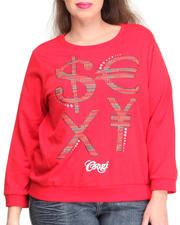 COOGI - 3/4 Sleeve Pullover w/ Money Sign Wording (Plus)