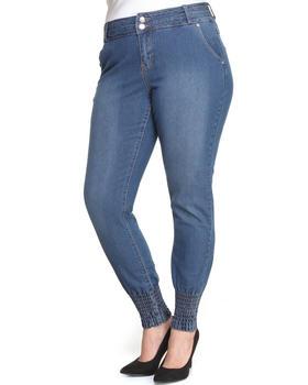 Apple Bottoms - Smocked Ankle Caviar Pocket Skinny Jean (Plus)