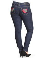 Bottoms - Heart Back Jem Pocket Jeans (Plus)