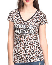 Rocawear - All-over Leopard Print Logo Tee