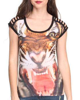 Rocawear - S/S Power Bite Leopard Sublimated Top