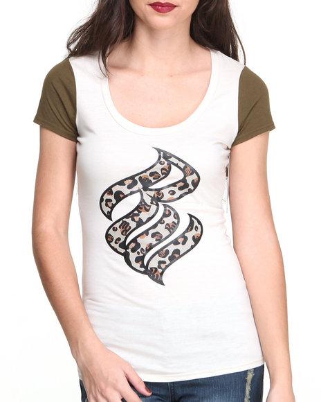 Rocawear Off White S/S Wild Logo Crewneck Tee