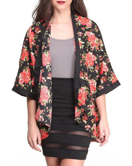 Fashion Lab Pink Leah Floral Kimono
