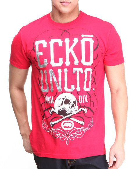 Ecko - Men Red U N L T D Skull S/S Tee