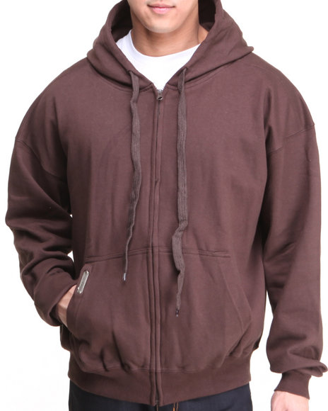 Basic Essentials - Men Brown Competition Hoodie - $14.99