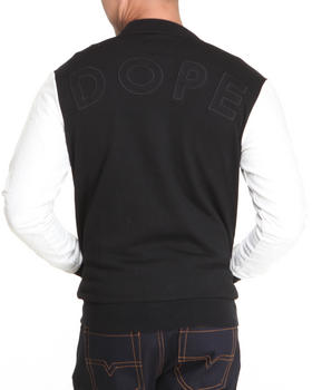 DOPE - Classic Varsity Jacket w/faux leather sleeves