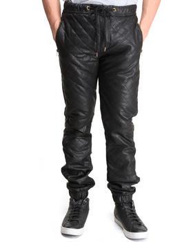 Kite Club - Pu Diamond Leather Pants