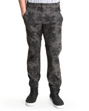 Jeans & Pants - Black Tropic Print Slim Fit Premium denim pants