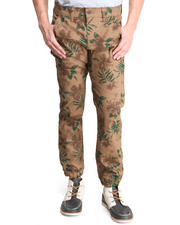 Jeans & Pants - Natural Tropic Print Slim Fit Premium denim pants