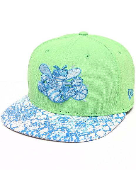 New Era Men Charlotte Hornets Ostrich Vize Snake 950 Strapback Hat Green Medium/Large - $20.99