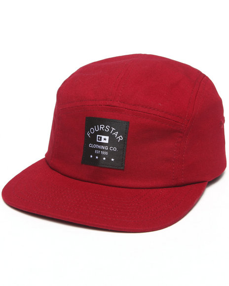 Fourstar Men Trademark Label Camper 5-Panel Hat Maroon - $17.99