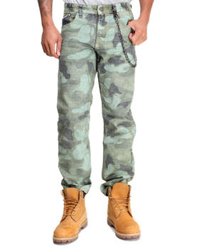 Heritage America - Printed Camo Denim Jeans