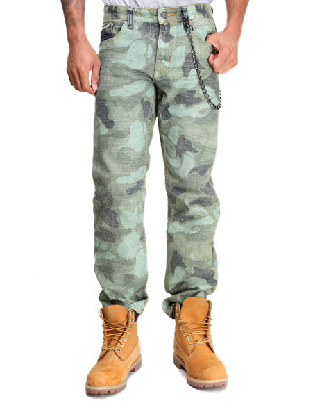 Designer Camo Pants Men
