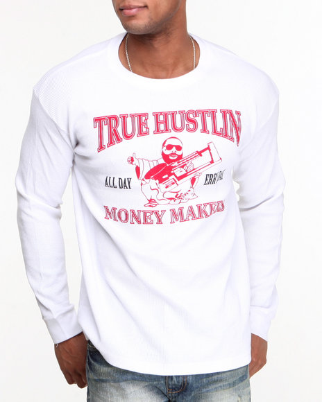 Buyers Picks - Men White True Hustlin Thermal