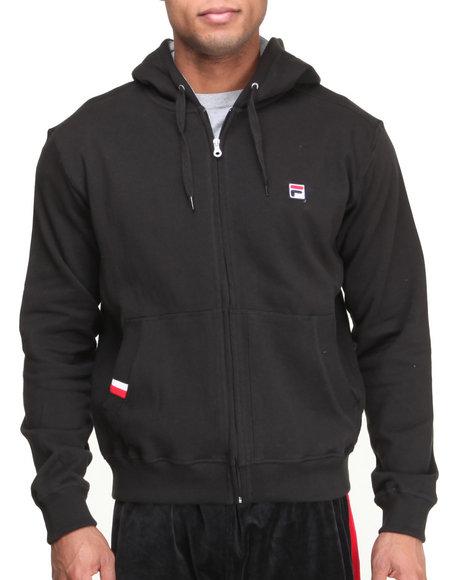 Fila Black Premium Fleece Full Zip Hoodie