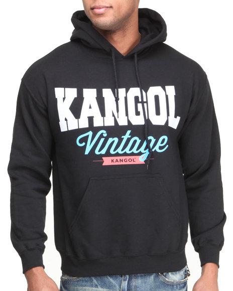 - Black Kangol Vintage Script Hoodie