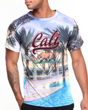T-Shirts - Cali Script All-Over Print Sublimation Tee