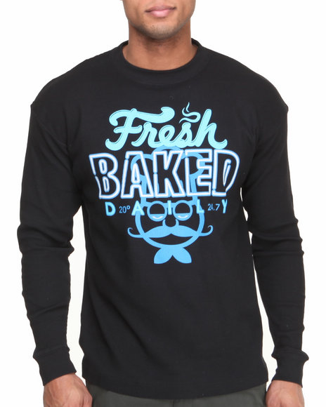 Buyers Picks - Men Black Fresh Baked Thermal Shirt