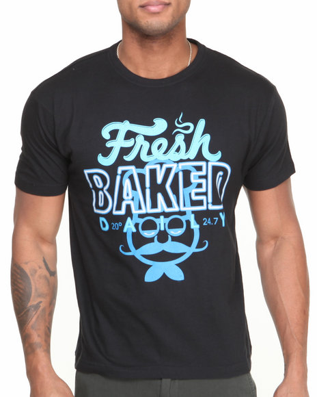 Buyers Picks - Men Black Fresh Baked Tee