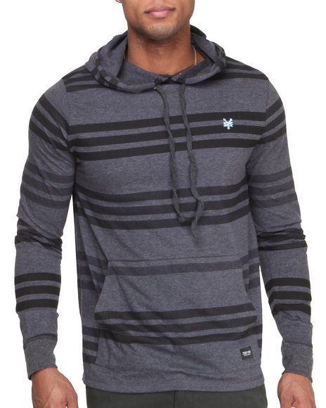 Zoo York - Men Charcoal Z Y Striped Hoodie