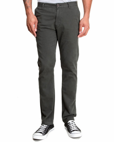 Fourstar Green Carroll Signature Chino Straight Slim Fit Pants