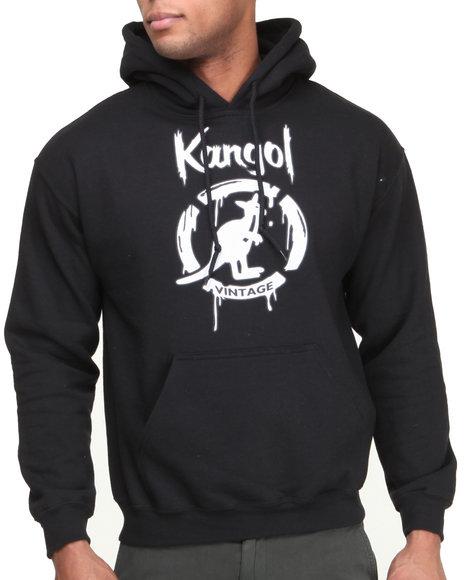 - Black Kangol Drip Script Hoodie