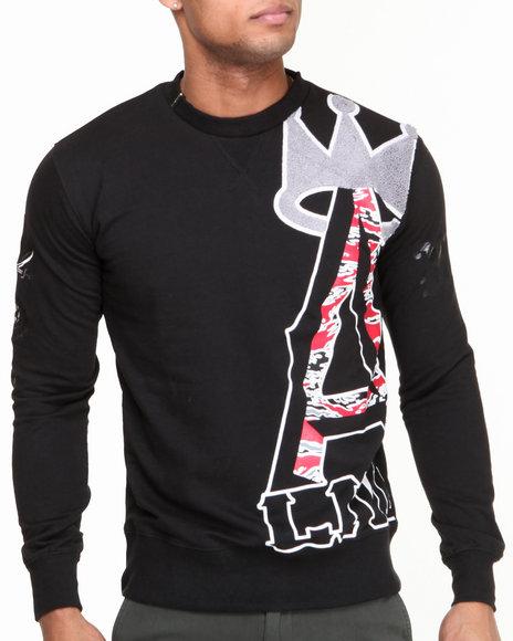 Well Established Black Pullover Sweatshirts