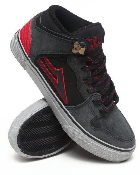 Lakai Black,Grey Carroll Select Black/Grey Suede Sneakers