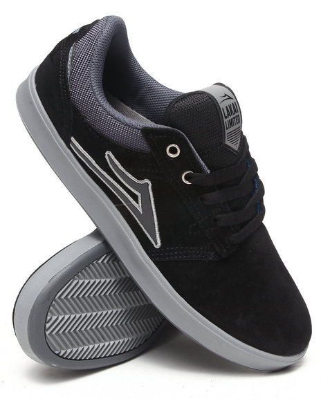 Lakai - Men Black,Grey Linden Black/Grey Suede Sneakers