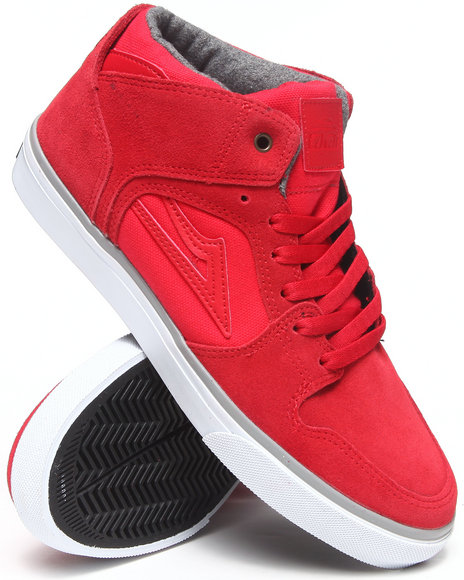 Lakai Red Telford Echelon Red Suede Sneakers
