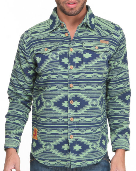 Heritage America - Jacquard Yarn - Dye L/S Button-Down