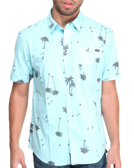 Volcom - Men Blue Palms S/S Button-Down