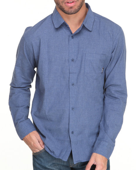 Brixton - Men Blue Kingston L/S Button-Down
