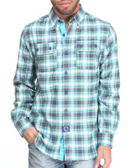 Rocawear Blue Combat L/S Button-Down
