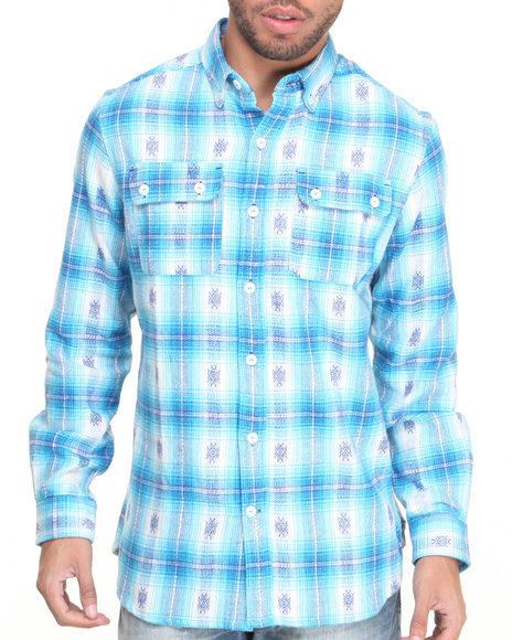 Rocawear Blue Button-Downs