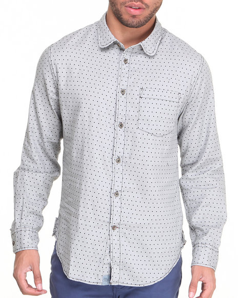 Jachs Grey Button-Downs