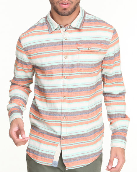 Jachs - Men Orange Azzolino L/S Button-Down