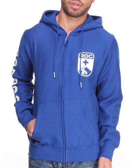 Rocawear - Men Blue Mt Roc Full Zip Hoodie