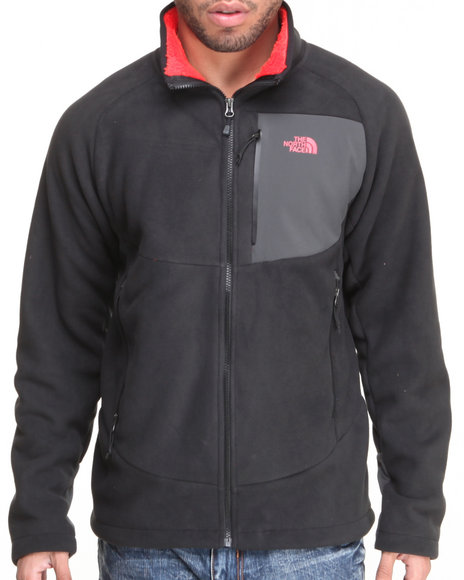 The North Face - Men Black Chimborazo Full Zip Fleece Jacket