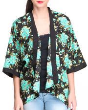 Long-Sleeve - Leah Floral Kimono